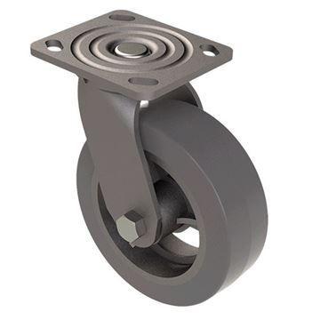 Designs of Distinction 6 Inch Swivel Iron Caster - No Brake