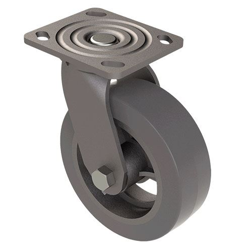 Designs of Distinction 6 Inch Swivel Iron Caster with Brake