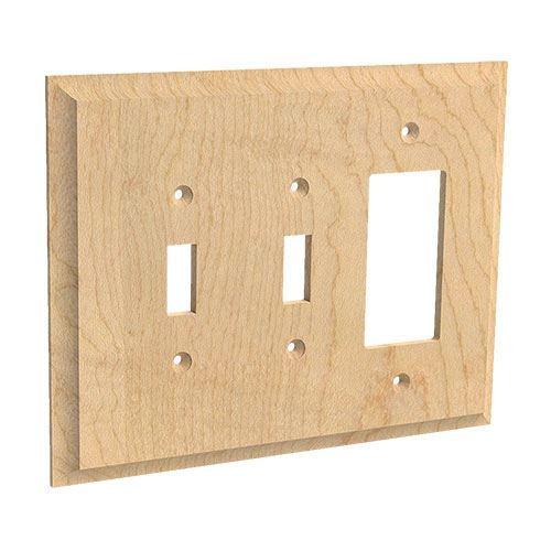 Designs of Distinction Double Toggle & Single Rocker Switchplate