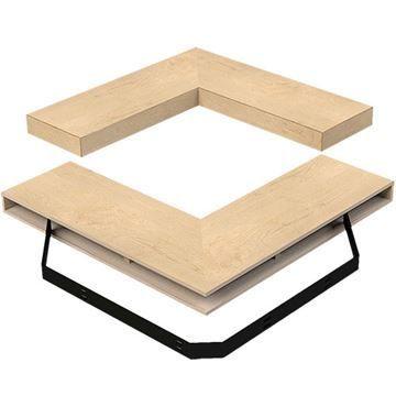 Designs of Distinction Furniture Grade Corner Floating Shelf