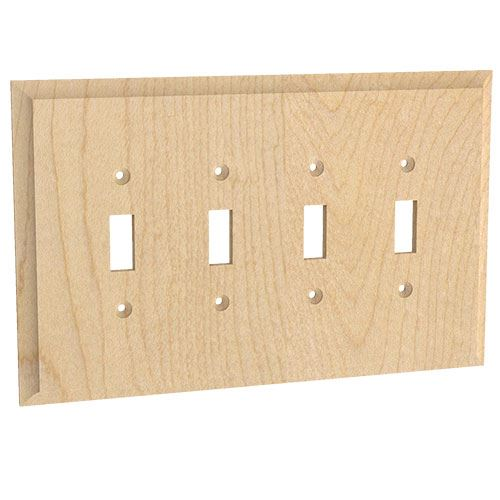 Designs of Distinction Quad Toggle Switchplate