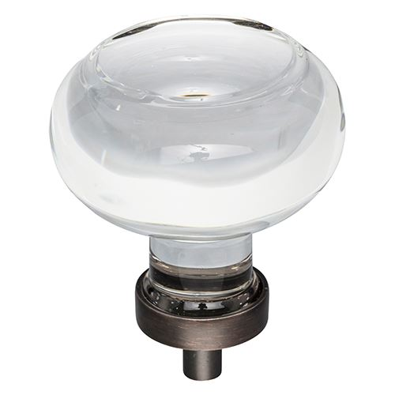 Jeffrey Alexander Harlow Large Glass Button Knob