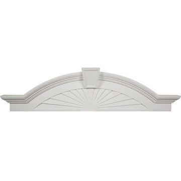 Restorers Architectural 62 1/2 Elliptical Sunburst Urethane Pediment