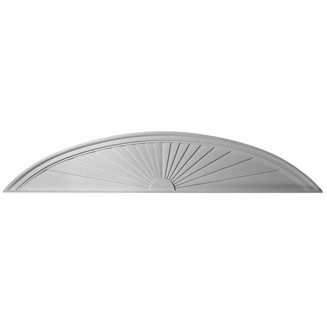 Restorers Architectural 72 Elliptical Sunburst Urethane Pediment