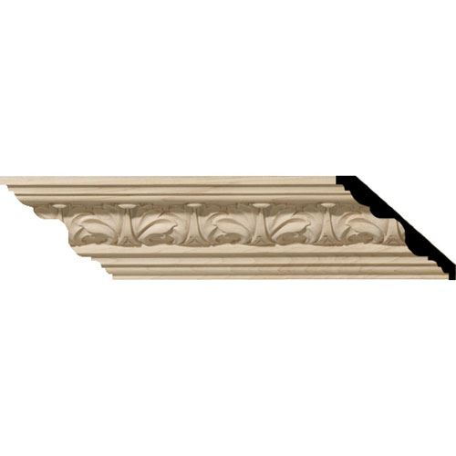 Restorers Architectural Acanthus Leaf 3 1/4 Carved Crown Molding