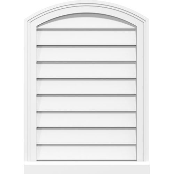 Restorers Architectural Arch Top 2 Brickmould Frame PVC Gable Vent