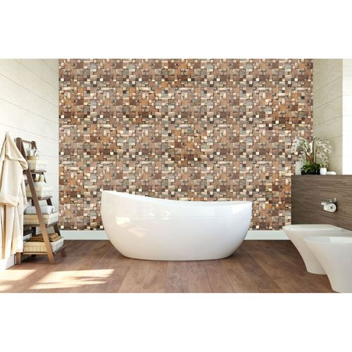 Restorers Architectural Belmont Boat Wood Mosaic Wall Tile