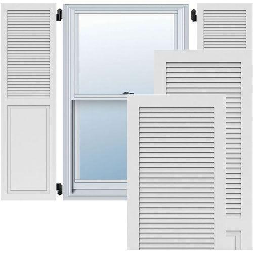Restorers Architectural Combination Louver PVC Shutters - Pair