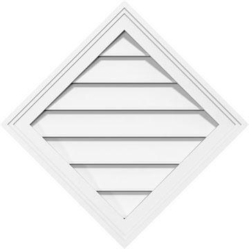 Restorers Architectural Diamond Brickmould Frame PVC Gable Vent