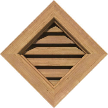 Restorers Architectural Diamond Cedar Brickmould Frame Gable Vent