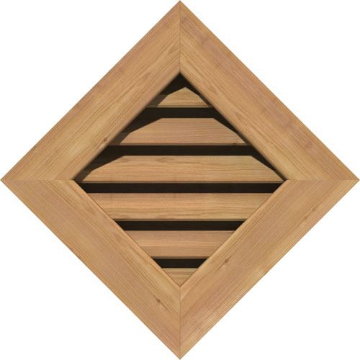 Restorers Architectural Diamond Cedar Flat Trim Frame Gable Vent