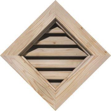 Restorers Architectural Diamond Pine Brickmould Frame Gable Vent