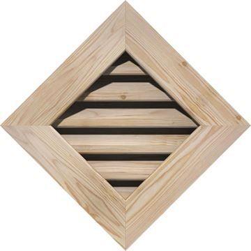 Restorers Architectural Diamond Pine Flat Trim Frame Gable Vent