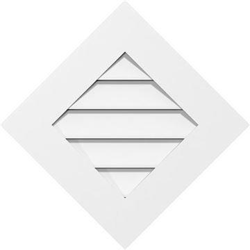 Restorers Architectural Diamond Standard Frame PVC Gable Vent