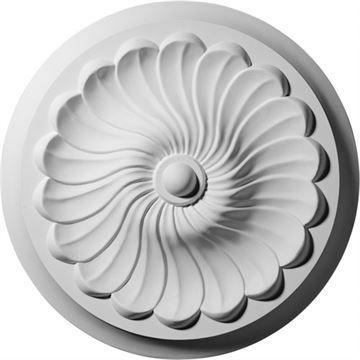 Restorers Architectural Flower Spiral Prefinished Ceiling Medallion