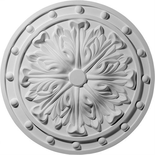 Restorers Architectural Foster Acanthus Prefinished Ceiling Medallion