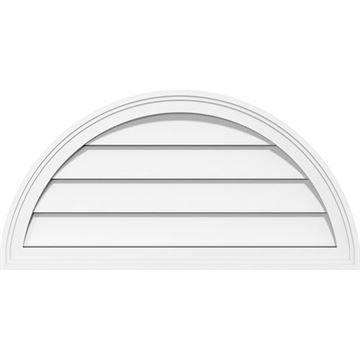 Restorers Architectural Half Round 1 1/2 Brickmould Frame PVC Gable Vent
