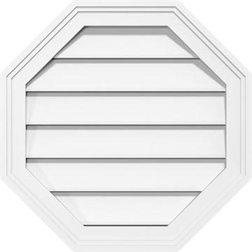 Restorers Architectural Octagon 1 1/2 Brickmould Frame PVC Gable Vent