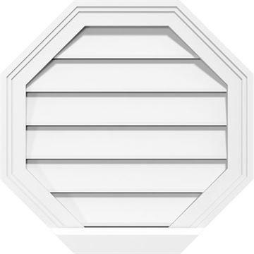 Restorers Architectural Octagon 2 Brickmould Frame PVC Gable Vent