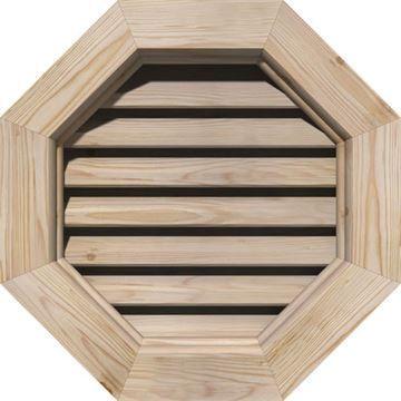 Restorers Architectural Octagonal Pine Brickmould Frame Gable Vent