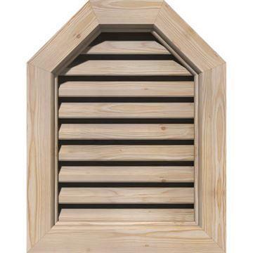 Restorers Architectural Octagonal Top Pine Brickmould Frame Gable Vent