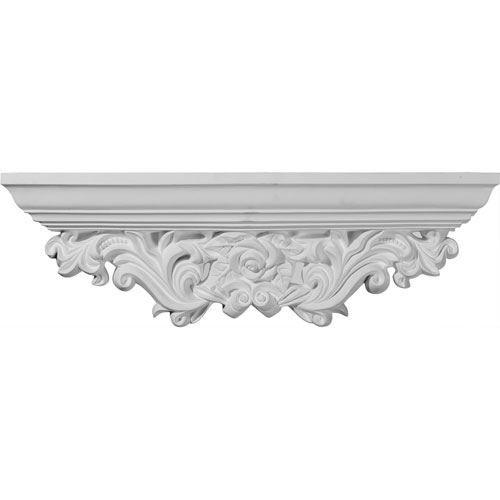 Restorers Architectural Odessa Acanthus Leaf Urethane Shelf
