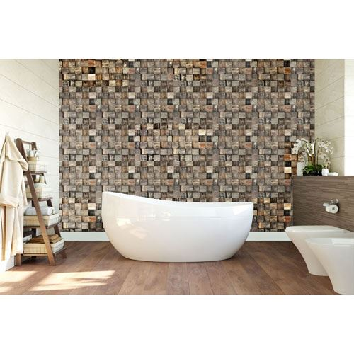 Restorers Architectural Reclaimed Boat Wood Mosaic Wall Tile