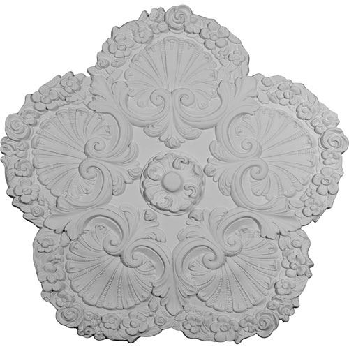 Restorers Architectural Shell Prefinished Ceiling Medallion