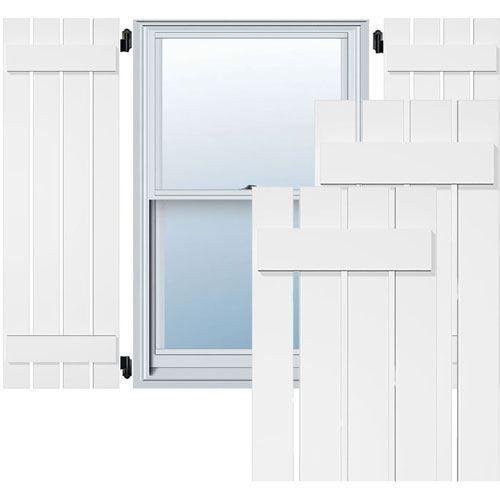 Restorers Architectural Spaced Board-n-Batten PVC Shutters - Pair