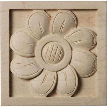 Restorers Architectural Sunflower Square Rosette Applique