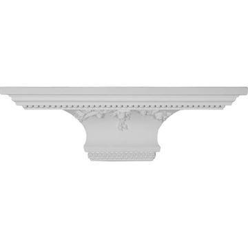 Restorers Architectural Victorian Corner Urethane Shelf