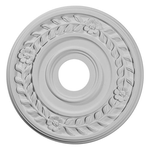 Restorers Architectural Wreath 16 1/4 Prefinished Ceiling Medallion
