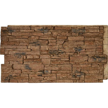 StoneWall Canyon Ridge Stacked Stone Faux Stone Wall Siding Panel