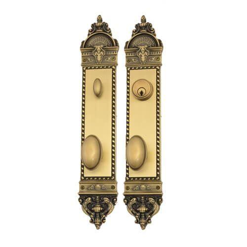 Brass Accents Fleur De Lis Windsor Single Cylinder 2 3/8 Entry Set