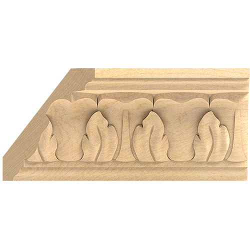 Designs of Distinction Hand Carved 4 3/4 Inch Acanthus Crown Molding