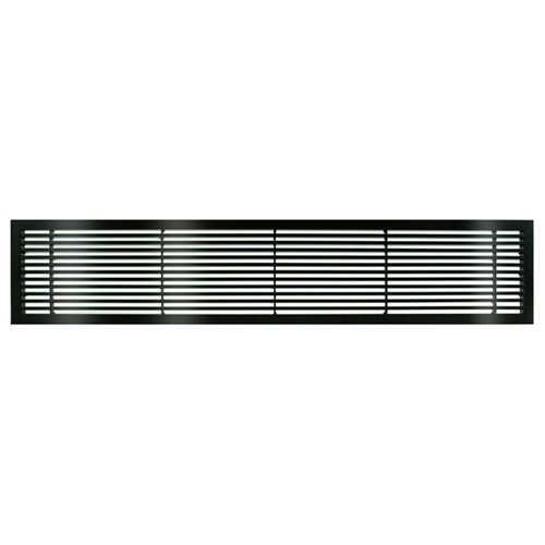 Architectural Grille Black Gloss Bar Grille - 45 Deflection