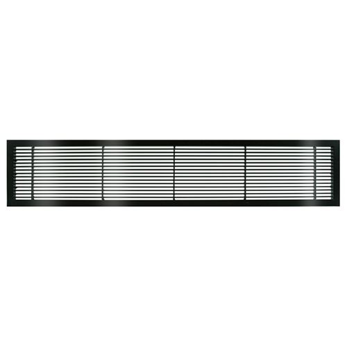 Architectural Grille Black Gloss Bar Grille & Door - No Deflection