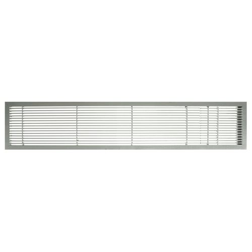 Architectural Grille Brush Satin Bar Grille with Door - No Deflection