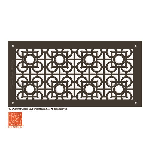 Architectural Grille Frank Lloyd Wright Luxfer Lattice Petite Grille