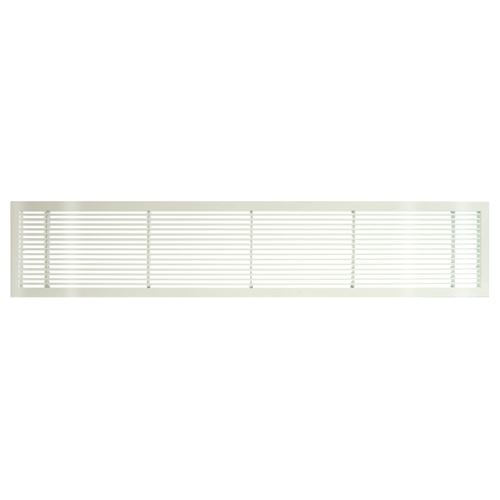 Architectural Grille White Gloss Bar Grille - No Deflection