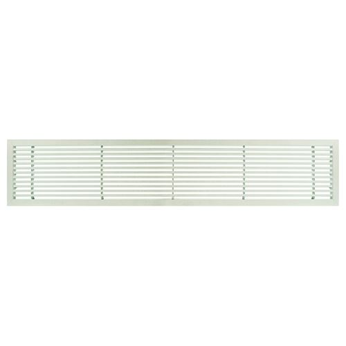 Architectural Grille White Matte Bar Grille - 45 Deflection