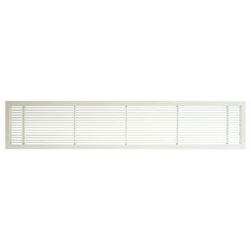 Architectural Grille White Matte Bar Grille & Door - No Deflection