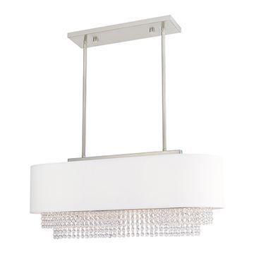 Livex Lighting Carlisle Linear Chandelier - Off White