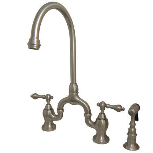 Restorers English Country KS779XALBS-P Bridge Kitchen Faucet