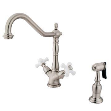 Restorers Heritage KS123XPXBS-P Two Handle Single Hole Kitchen Faucet