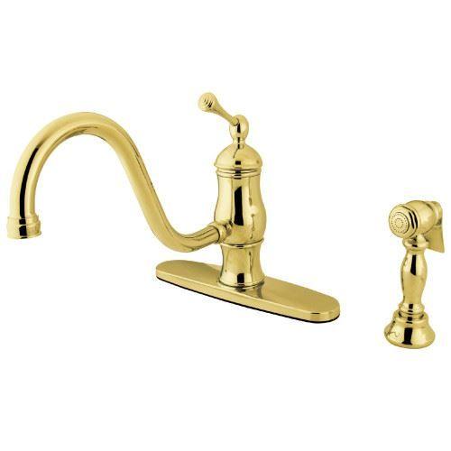 Restorers Heritage KS157XBLBS-P One Handle Kitchen Faucet