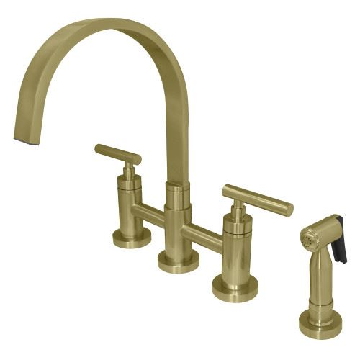 Restorers Manhattan KS826XCMLBS-P Bridge Kitchen Faucet