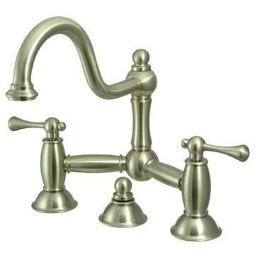 Restorers Restoration KS391XBL-P Bridge Bathroom Faucet