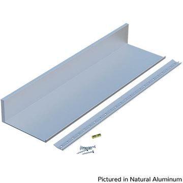 Designs of Distinction Deep Aluminum Slimline Channel Shelf