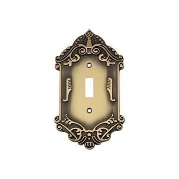 Nostalgic Warehouse Victorian Single Toggle Switch Plate